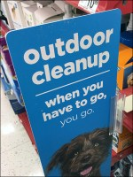 Outdoor-Doggy-Cleanup In-Aisle Pet Promotion
