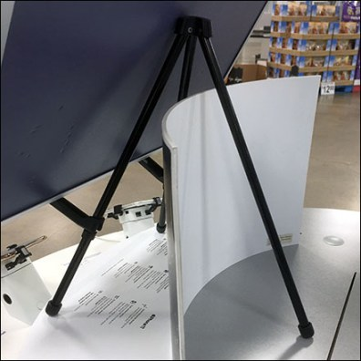 End-Aisle Counter-Top Tripod Easel