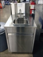 Mobile Stainless-Steel Handwash Station