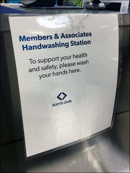 Please-Wash-Hands-Here Sink Sign
