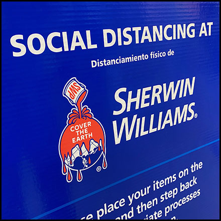 CoronaVirus Service-Counter Social Distancing Sign