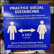 CoronaVirus Shelf-Edge Social Distancing Sign