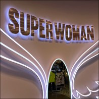 Superwoman Neon Wings Mirror In Flight
