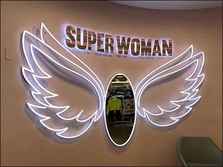 Superwoman Neon Wings Mirror In Flight