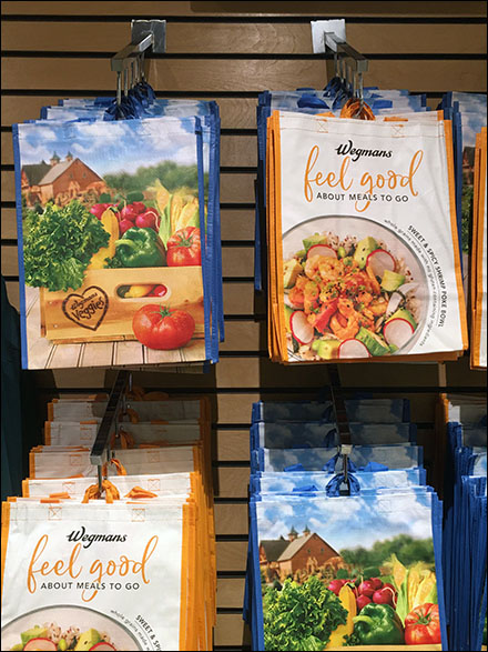 Wegman's Shopping Bag Waterfall Faceouts