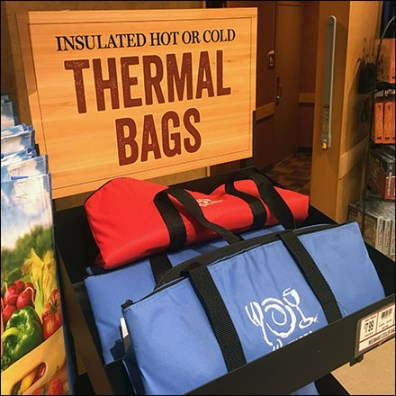 Wegman's Thermal-Bag Freestanding Display