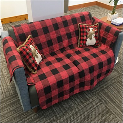 Comfortable Winter Seating Staging