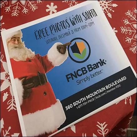 Free Photos With Santa at the Bank