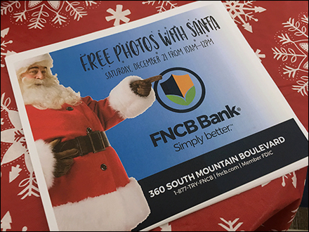 Free Photos With Santa at the Bank