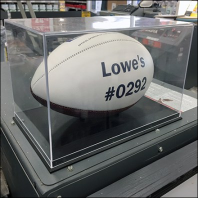 Official NFL Football Museum Case