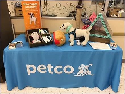Petco Branded Table Drape Display