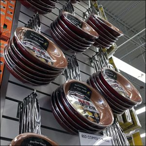 Copper Cookware Slatwall Column