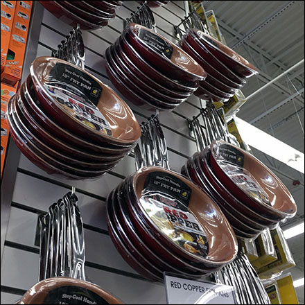 Copper Cookware Slatwall Column
