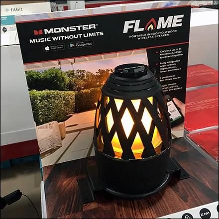 Flame Monster Speaker Pallet Display