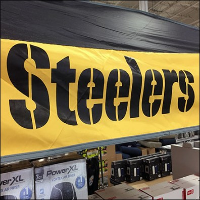 Steelers Football Tent In-Store Display