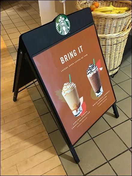 Starbucks Bring-It A-Frame Sidewalk Sign