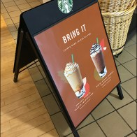 Starbucks Bring-It A-Frame Sidewalk Sign