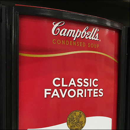 Campbell's Soup Gravity-Feed Merchandising