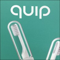 Quip Color-Coded Toothbrushes Hook Hung