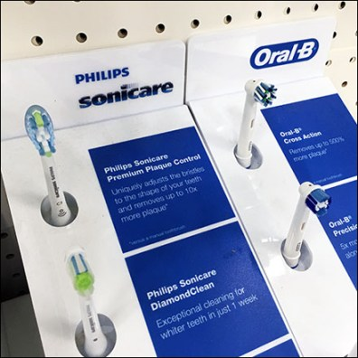 Toothbrush Shelf-Top Brand Comparison
