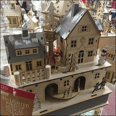 Wind-Up Miniature Christmas Village
