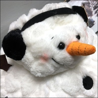 Cotton-Ball Snowman Served-Up-Right