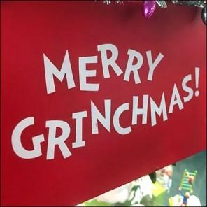 Merry Grinchmas Christmas Display