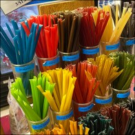 Rainbow Honey-Sticks Apothecary Uprights