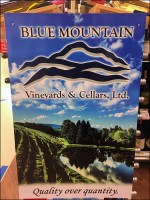 Blue Mountain Vineyards Wood Wine Rack