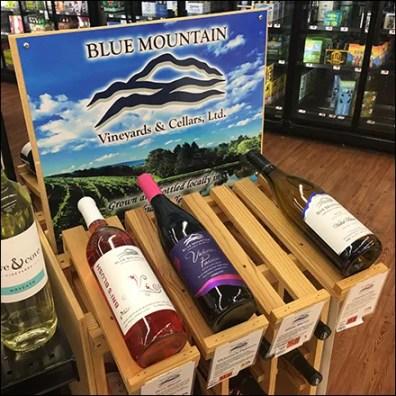 Blue Mountain Vineyards Wood Wine Rack