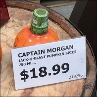 Captain Morgan Jack-O-Blast Acrylic Sign Holder
