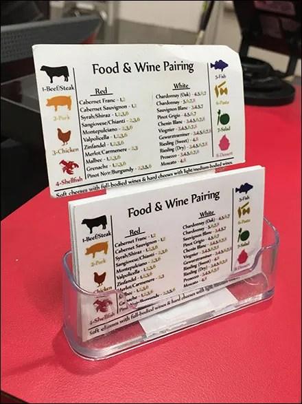 Food-&-Wine-Pairing Takeaway Card Holder