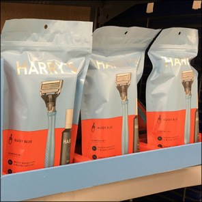 Harry's Shave-Kit-In-A-Bag MerchandisingHarry's Shave-Kit-In-A-Bag Merchandising