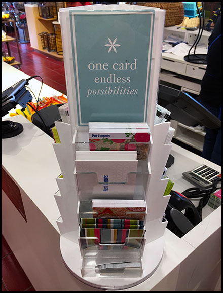 Pier 1 Endless-Possibilities Gift Card Tower