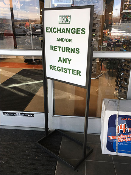 Dick's Any Register Returns And Exchanges