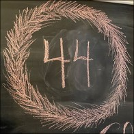 44 Days Until Christmas Chalkboard Coutdown