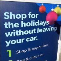 Holiday Shopping Sidewalk Sign Outreach