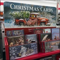 Homespun Christmas Card Display