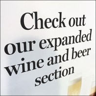 Beer-and-Wine Selection Sidewalk Sign