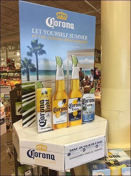Corona Light-Beer Table-Top Display