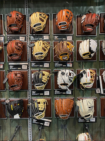 Dicks' Baseball Glove Wall-Plaque Array