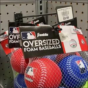 Foam Baseball Mesh-Bag Merchandising