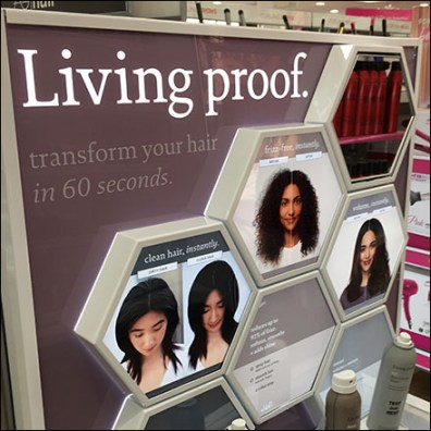 Living-Proof Hair-Treatment Testers Endcap