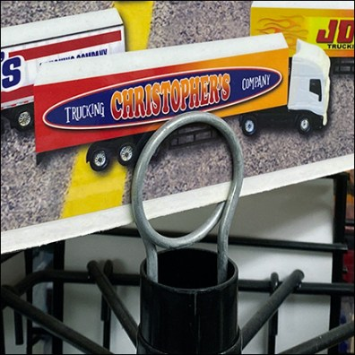 Over-The-Road-Trucks Coil-Clip Sign Holder
