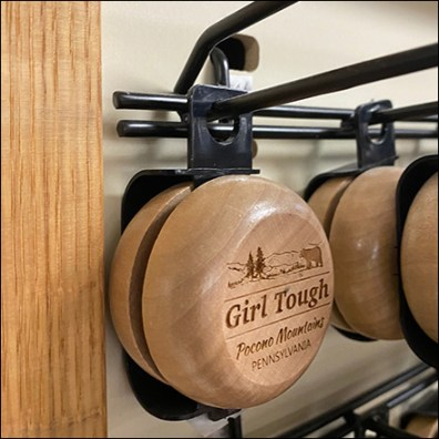 Wood Yo-Yo Scan Hook Hanger
