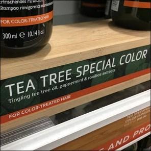 Tea-Tree Shampoo Wood Pedestal