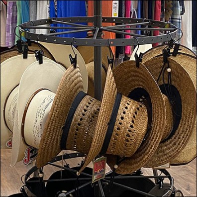 Justin Cowboy Hat Carousel HangrailJustin Cowboy Hat Carousel Hangrail