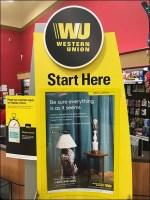 Western-Union Start-Here Freestanding Kiosk