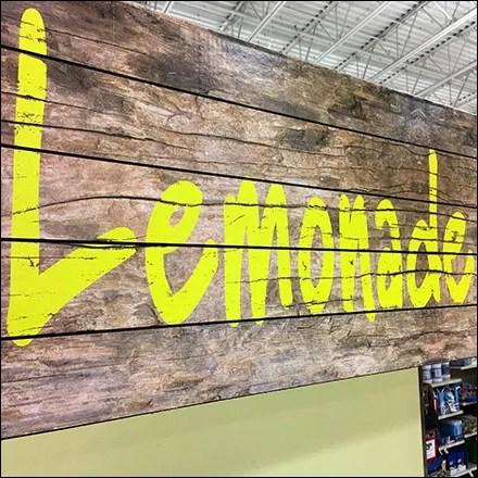 Lemonade Merchandising Displays - In-Store Rustic Lemonade-and-Tea Stand