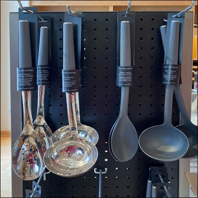 Metal Pegboard Serving-Utensil Tower
